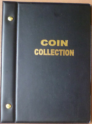 Small VST BLACK COIN STOCK ALBUM for 2 x 2 COIN HOLDERS - holds 48 Coins