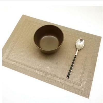 Easy Dry Placemats Non-slip Hollow Effect PVC Washable Table Mats Tableware MA