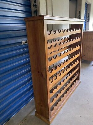 80 Bottle Timber Wine Rack Wooden Storage Cellar Vintry Organiser