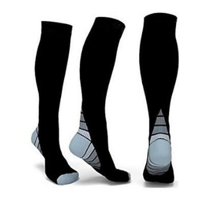 1 pair Anti Fatigue Unisex Compression Socks Flight Travel Knee High Stocking MA