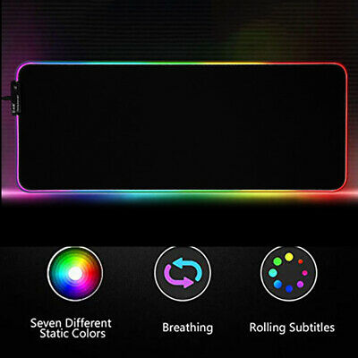 RGB 35CMx25CM Lighting Gaming Mouse Pad Mat for PC Laptop Colorful LED