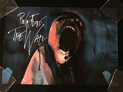 PINK FLOYD THE WALL POSTER-1st Printing-Gerald Scarfe-1982-NEAR MINT TO MINT