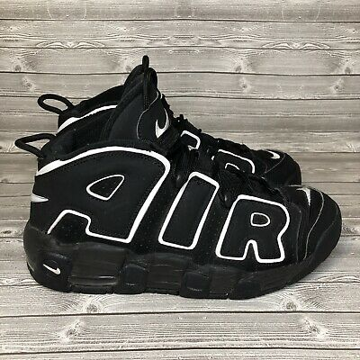 the latest 40d67 aaf69 Nike Air More Uptempo Sz 7Y GS (415082-002) VNDS Black White
