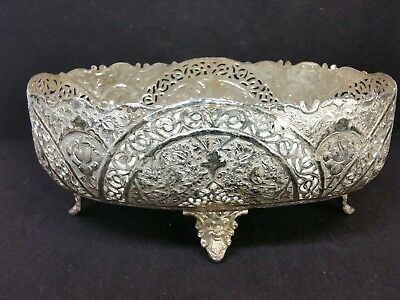 Antique Islamic Middle East 84 Silver Large Candy Nut Dish