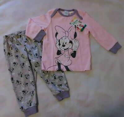 💝1/12-18 Months Toddler GIRL DISNEY Minnie Mouse Pyjama Set New With Tags💝