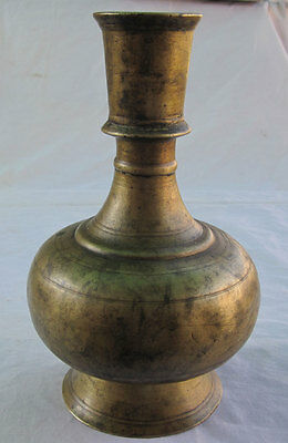 17th C Antique or old solid Brass Islamic Mughal style Hookah hukka Base
