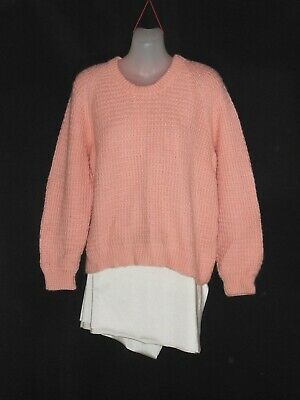 1960's Vintage Hand Knitted Patterned Wool Jumper.