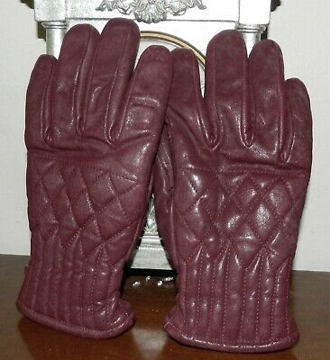 VINTAGE Rockabilly 1950s-60s Original Retro Leather Ski Gloves XS