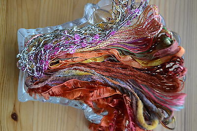 JOB LOT SMALL PACK OF ASSORTED YARNS (mohair wool cotton etc) colour variations