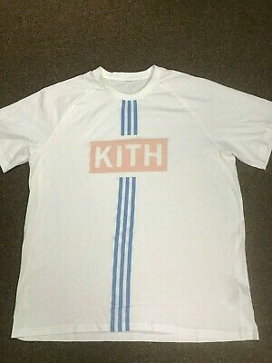 sale retailer f39cd 7e9f7 KITH X ADIDAS Soccer Classic Box Logo Tee Flamingos Home Alternate 2017