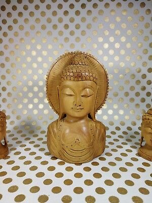"Buddha Statue Antique handicraft Hand Carved Wood Christmas Best Gifts 5"" inch"