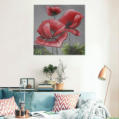 Hand Painted Art Oil Painting On Canvas Modern Wall Decor Aquila Flowers Framed