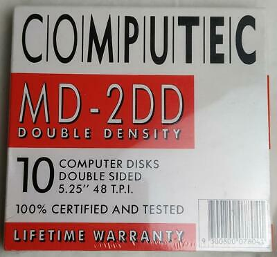 COMPUTEC MD DOUBLE DENSITY 5.25 x 10 DISKS - NEW - SHRINK-WRAPPED - C64/IBM