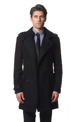 AUSTRALIA DESIGNER Classic Men's Wool Trench Coat - Italian Fabric