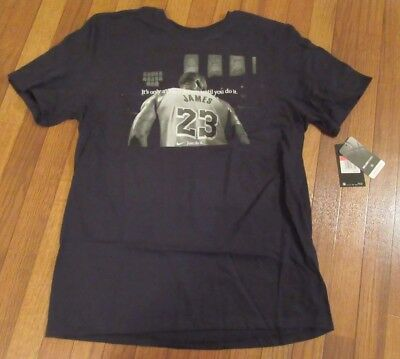 b5b94a96 Nike Lebron James Tee Size Large Black It's Only A Crazy Dream Until You Do  It