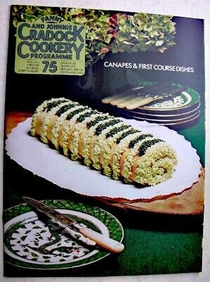 FANNY & JOHNNIE CRADOCK COOKERY PROGRAMME No 75 1971 Canapes First Course Dishes
