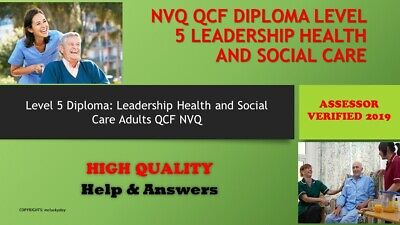 Unit 33/DEM 301  NVQ/QCF Diploma LEVEL 5 Health and Social Care Leadership