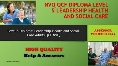 NVQ/QCF Diploma LEVEL 5 Health and Social Care Leadership +Research ProjectT
