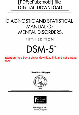 DSM-5 Diagnostic and Statistical Manual of Mental Disorders 5th Edition [P.D.F]