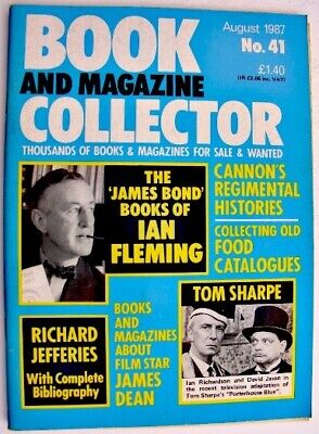 BOOK & MAGAZINE COLLECTOR Aug 1987 41 Ian Fleming, Tom Sharpe, Richard Jefferies