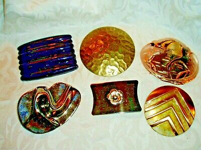 6 Pc. Lot Vintage  Ladies BELT BUCKLES and More, LOT 555, Charment, Pat Pend