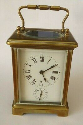 19th. C. French Brass Case carriage Clock