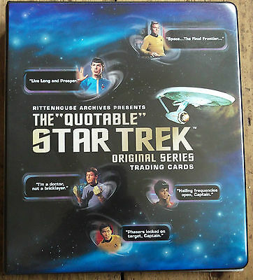 "Star Trek ""The Quotable Star Trek Original Series"" Binder/Album"