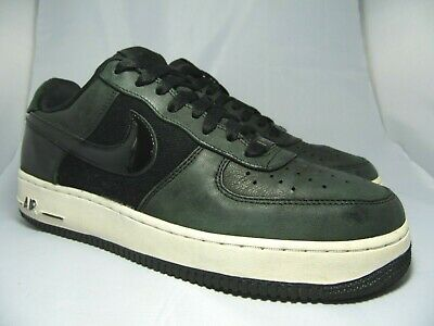 e50bf0031 NIKE AIR FORCE 1 LOW PREMIUM Men s Black White Casual Trainers UK 8 EU