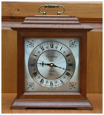 VINTAGE CANTERBURY QUARTZ CHIME MANTLE CLOCK, Made in England.