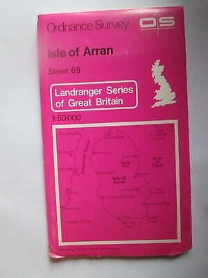Ordnance Survey map Landranger  Series Sheet  69 Isle of Arran 1980 VGC