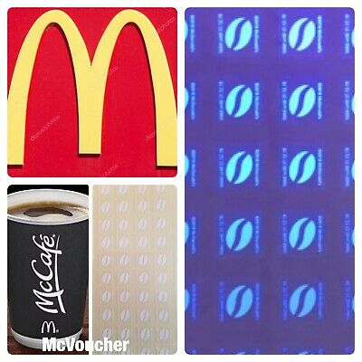 60 McDONALDS COFFEE DRINK STICKERS  LOYALTY VOUCHERS 31/12/19 33p PER CUP