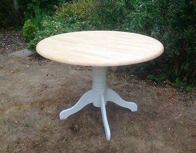 Beautiful Vintage Solid Wood Round Dining Table Painted Annie Sloan