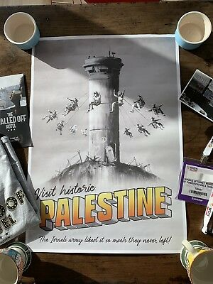 Banksy Palestine WTM Genuine Poster, With Extras.
