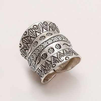 925 Sterling Silver Tribal Statement Ring Bohemian Ring Boho Ring Gypsy Ring New