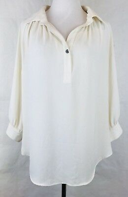 0e1e89cb0c73ec KAREN KANE WOMEN'S Blouse Beige Sparkle Tulle Hem Long Sleeve Top ...