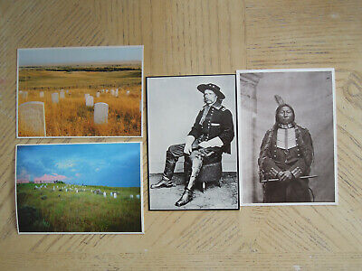 National Cemetery Postcard Lot - Little Bighorn Custer Battlefield Crow King