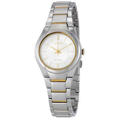 Citizen Paradigm Silver Dial Ladies Two Tone Watch FE2094-51A