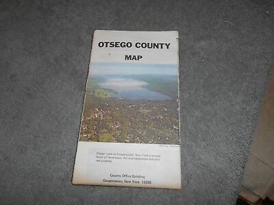 Map - Otsego County - Cooperstown New York - 1984