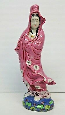 Chinese Porcelain Hand Painted Statue Figurine