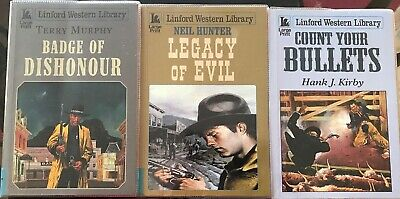 3Westerns Badge Of Dishonour, Legacy Of Evil,Count Your Bullets. Large Print Bks