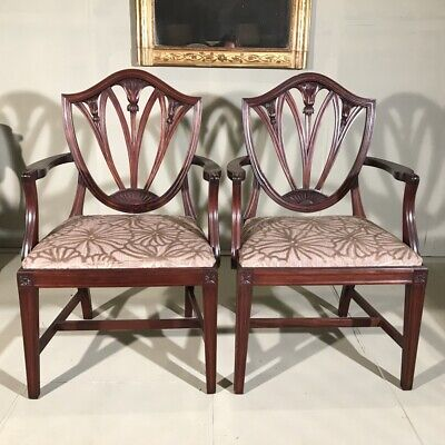 Pair of antique French carver chairs with generous seats