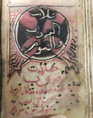 Arabic Coptic Miniature Manuscript, Horologion, Signed and Dated