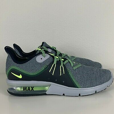 detailed look aa90f 766bd Nike Air Max Sequent 3 Black Grey Running Training Shoes 921694-007