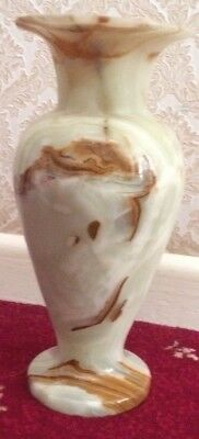 """Beautiful Onyx Vase (12"""" High X 5 1/2"""" Wide At Widest Point)"""