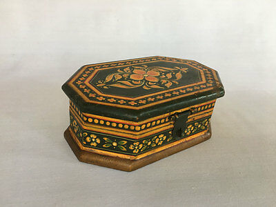 An Old Look Hand Crafted & Hand Painted Color Small Wooden Box