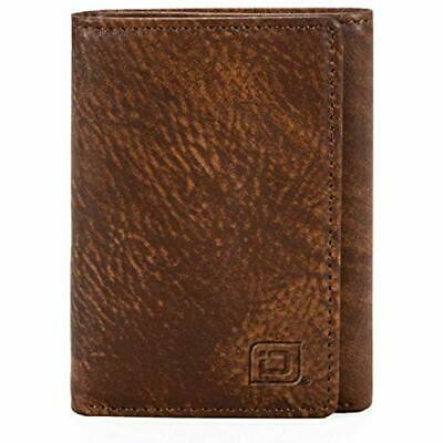 Wallets Slim RFID Blocking Trifold For Men - Genuine Leather Rough Rider Brown