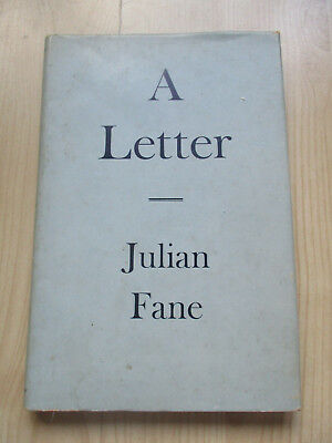 Julian Fane a letter 1960 1st edition limited to 25 copies on marbled paper H/B
