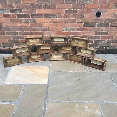 Vintage Wooden Brick Moulds With Plastic Inserts - Small Antique Storage Unit