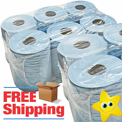 BLUE ROLL 2Ply centrefeed rolls, paper hand towels, absorbant, embossed