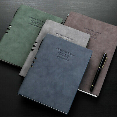 A5 PU Leather Cover Vintage Journal Office Notebook Lined Paper Diary Planner